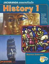 Jacaranda Essentials History 1: 1 by Anderson (Paperback, 2007+ CD), Like new
