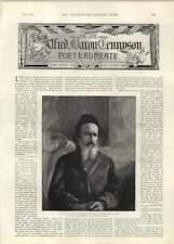 1892 Lord Tennyson In His Velvet Skullcap Somersby Lincs