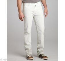 $575 NWT Authentic BALENCIAGA Paris White Cotton Regular Fit Jeans W-31 I-33