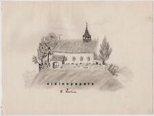 Tirschenreuth St. Peter Kirche Bleistift Zeichnung Kalb Erlangen um 1887