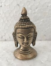 VINTAGE  INDIAN BRASS BUDDHA STATUE FACE FIGURE RARE & COLLECTIBLES