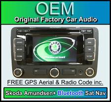 SKODA SUPERB Navigation, Kit Main Libre Bluetooth, Amundsen + GPS autoradio