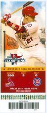 2014 Cardinals vs Cubs Ticket: Welington Castillo hit a 3-run homer in the 11th