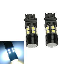 2x 3157 White 6000K Back Up Reverse Projector 12-SMD Chip LED Lights Bulbs Hot