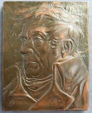 Turner portrait homage to Romantic art medal by Nathan BAMS cast bronze 1989