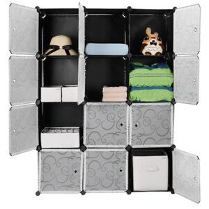 HOT 12 Cubes Wardrobe Closet Cabinet Interlocking Storage Home Room Organizer