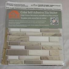 HUE DECORATION Peel &Stick Decorative Tile Modern Marble Design Backsplash 5pk