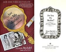 Alison Bechdel~SIGNED~Are You My Mother? A Comic Drama~1st Edition SC+Photos!!