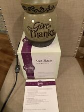 SLIGHTLY USED Scentsy Full Size Warmer W/Bulb - Give Thanks - Retired