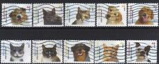 Scott #4451-60 Used Set of 10, Adopt A Shelter Pet