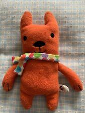 Jellycat. Orange Dog In Scarf.