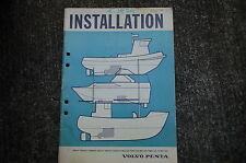 VOLVO PENTA INSTALLATION Engine Service Manual repair overhaul book shop 1979