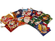 Pack de 10 Tarjetas de Navidad Felicitacion para colgar en el arbol CRISTMAS