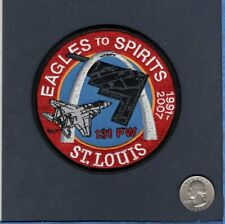 131st FW F-15 EAGLE to B-2 SPIRIT STEALTH Bomber USAF ANG Squadron Patch