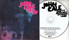 JOHN CALE Shifty Adventures In Nookie Wood UK 12-trk promo test CD card sleeve