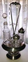 Antique Victorian Rotating Cruet - Castor Set - Meriden 4 Bottles 68 or 89?
