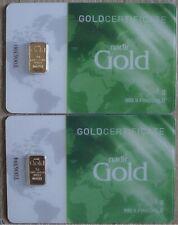 2g Gold 999.9 Feingold von NADIRGOLD im Blinder