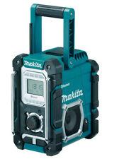 Makita Akku-Baustellenradio Tragbar Radio, Schwarz/Blau (DMR108)
