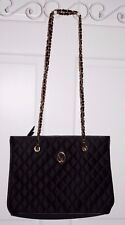 Rare St. John Black Quilted Chain Classic Purse
