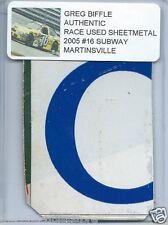GREG BIFFLE 2005 SUBWAY MARTINSVILLE AUTHENTIC NASCAR RACE USED SHEETMETAL #4