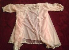 1960s  Leonara Pink Nightgown Lace Sexy Lingerie Robe no Buttons Or Belt Small