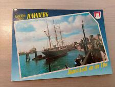 Postkarte Hamburg Rickmer Rickmers im Hamburger Hafen  12.01.1992 gel_322