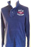 Original Hollister Troyer Sweater Pullover mit Stehkragen und Knöpfen