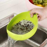 Rice Vegetable Washing Strainer With Handle Gadgets Durable Kitchen M4X7
