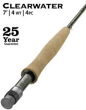 """NEW! Orvis Clearwater 7'0"""" 4 weight 4 piece Fly Rod"""