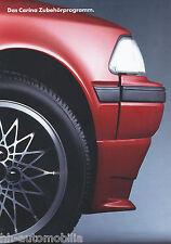 Toyota Carina Zubehör Prospekt 4 91 brochure Autoprospekt Auto PKWs Japan 1991