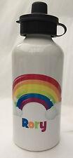 Personalised Kids/Drinks/Childrens Water Bottle - Rainbow Design, Christmas Gift