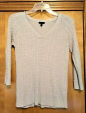 Women's Talbots Cable Knit Sweater - Beige - Size M
