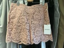 100% Authentic BNWT Valentino Lace Shorts Size 38 Dust Pink Color RRP £780