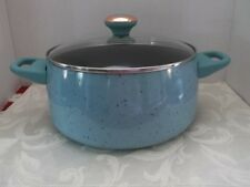 "PAULA DEEN PAN~6 QUART COVERED STOCK POT ~ ""AQUA"" SPECKLE~NEW"