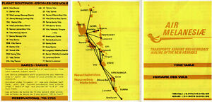AIR MELANESIA TIMETABLE 1 FEBRUARY 1976