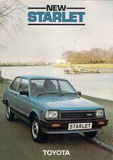 Toyota Starlet 1.0 GL 3-dr 1983-85 UK Market Foldout Sales Brochure