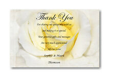 30 Personalised Wedding Day , Wedding Evening Thank You , Thankyou Cards Ref W7