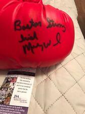 Autographed Micky Ward boxing glove Insc Irish an Boston Strong JSA certified