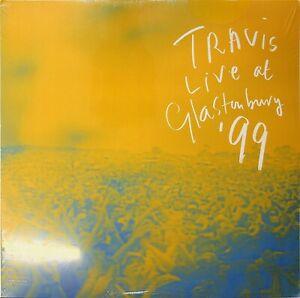 TRAVIS At Glastonbury 1999 Festival '99 BLUE VINYL 2-LP SEALED* The Best of Live