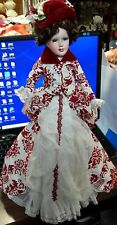 Victorian Porcelain Doll 18 In Tall,  #4121B1