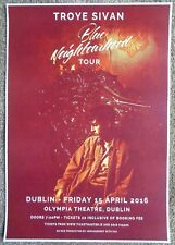 TROYE SIVAN 2016 Gig POSTER Dublin Ireland Concert