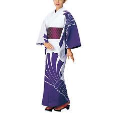 Japanese Yukata Noshi design purple for women summer kimono cloth wafuku