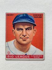 1933 Goudey (320) #187 Washington HOF Outfielder Heinie Manush VG+ Baseball Card