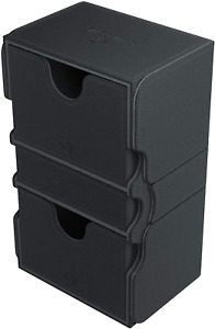 Stronghold 200+ Card Convertible Deck Box: Black GameGenic Asmodee NEW