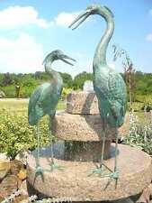 Bronzeskulptur, Reiherpärchen, Dekoration für Haus und Garten, Bronze, Figuren