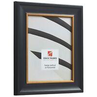 Craig Frames Martin, Black Velvet with Gold Picture Frame Poster Frame