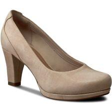 Clarks Ladies Stylish Shoes CHORUS CHIC Nude Interest UK 5.5 / EUR 39