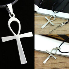 Large ANKH Cross Pendant  Leather 50cm+ Necklace Egyptian Symbol of LifeGift