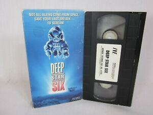 Deep Star Six (VHS 1988 IVE) Miguel Ferrer~Greg Evigan~Nia Peeples~Horror