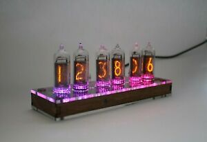 Nixie tube clock || with IN-14 tubes and CLEAR CASE || Remote || Temperature